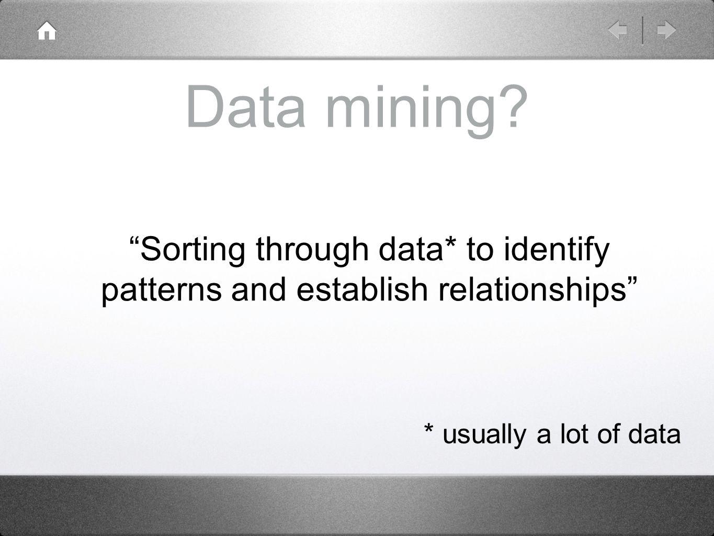Data mining.