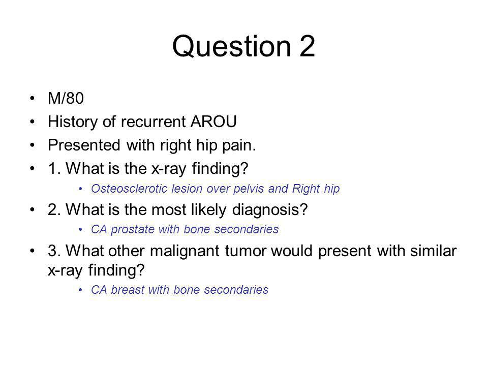 Question 3 A boy presented with slip and fell landed on outstretched hand 1.