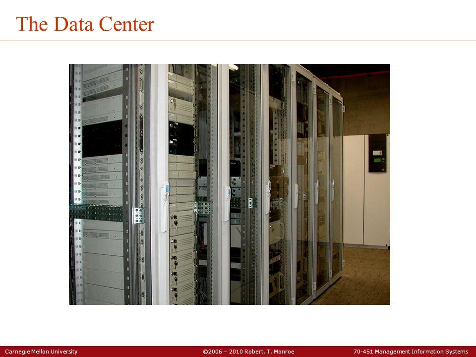 Carnegie Mellon University ©2006 – 2010 Robert. T. Monroe 70-451 Management Information Systems The Data Center