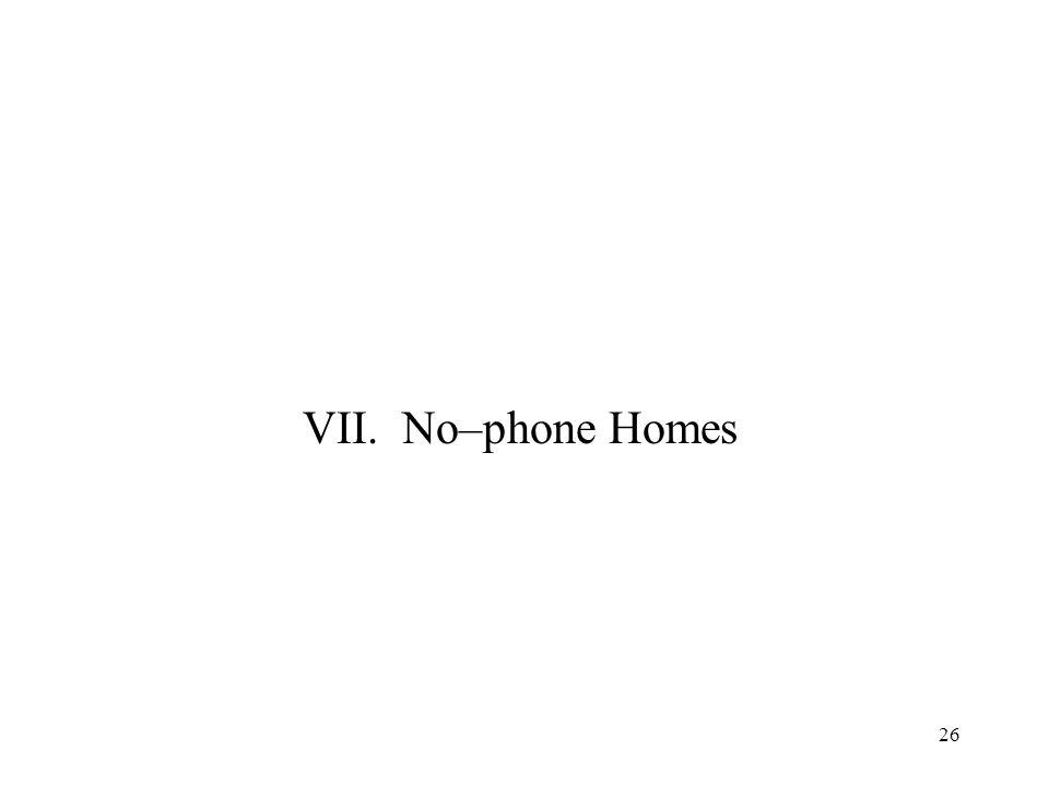 26 VII. No–phone Homes