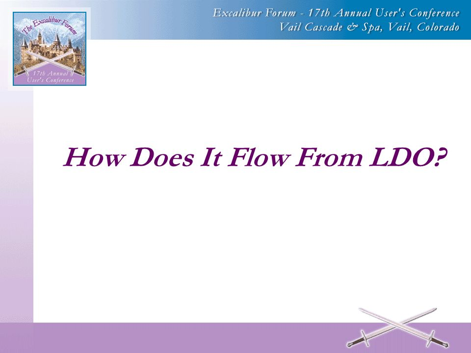 How Does It Flow From LDO