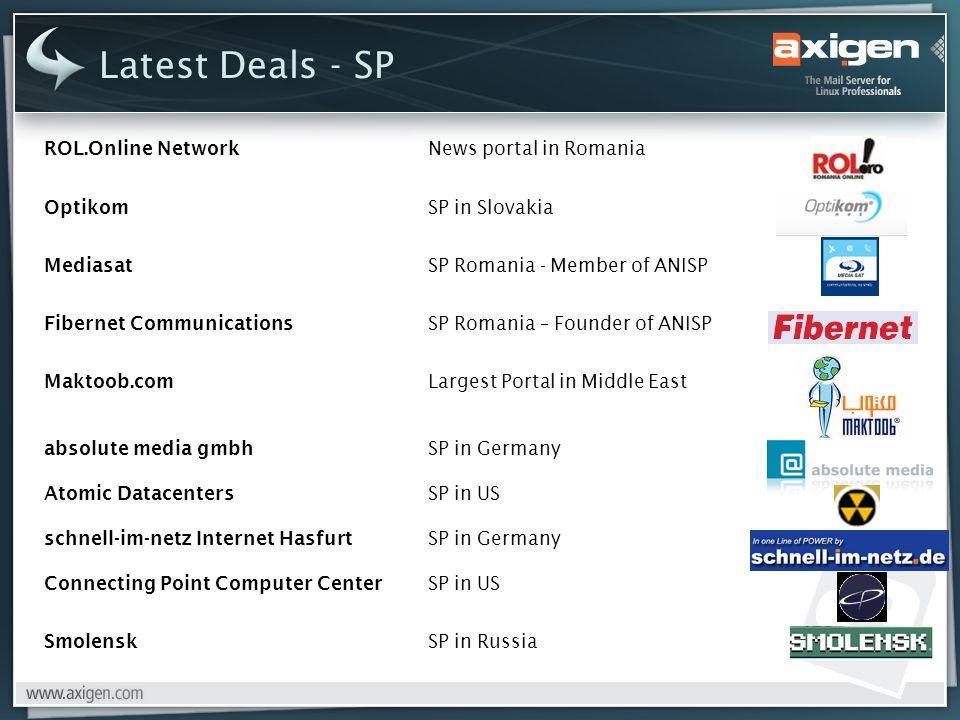 Latest Deals - SP ROL.Online Network News portal in Romania Optikom SP in Slovakia Mediasat SP Romania - Member of ANISP Fibernet Communications SP Ro