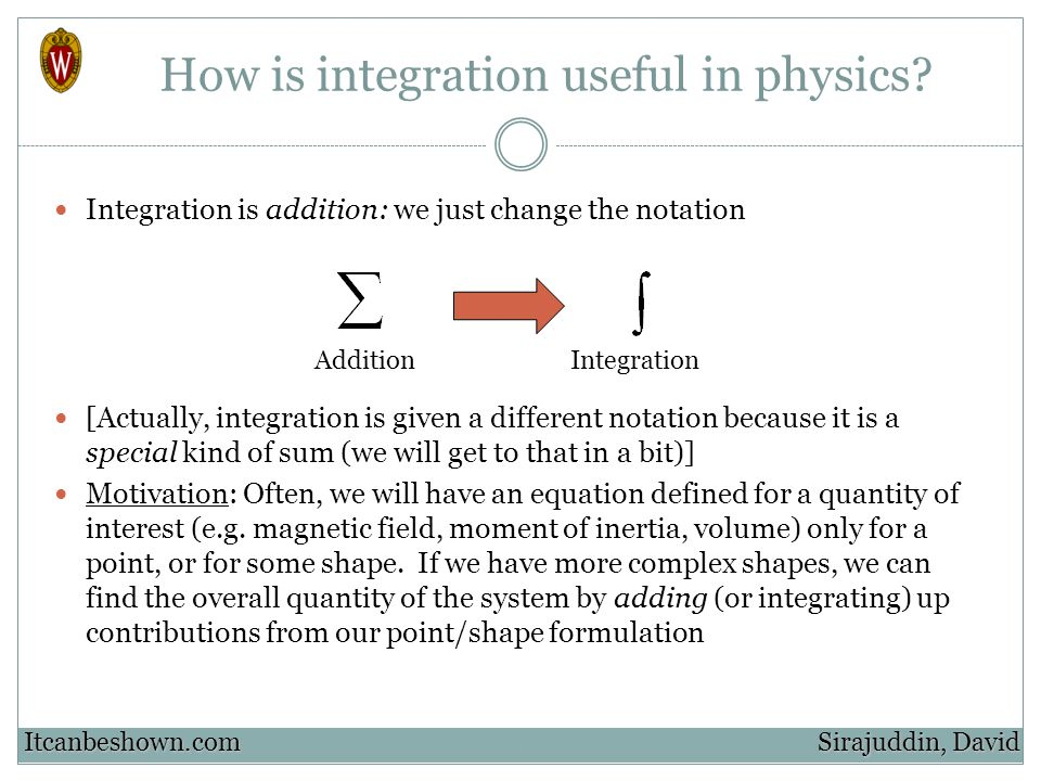 How is integration useful in physics.