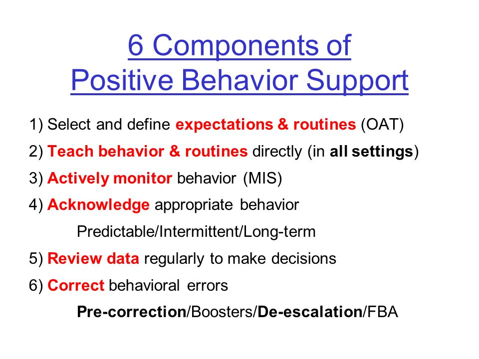 Effective Behavior Support Links classroom to school- wide behavior support –Do your colleagues agree on the school-wide expectations.