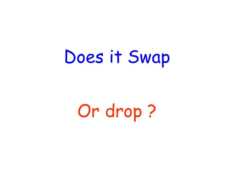 Does it Swap Or drop ?