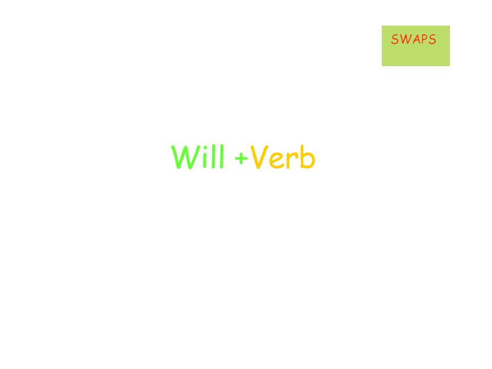 Will +Verb SWAPS