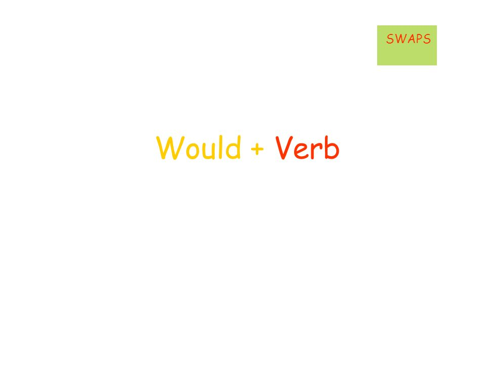 Would + Verb SWAPS