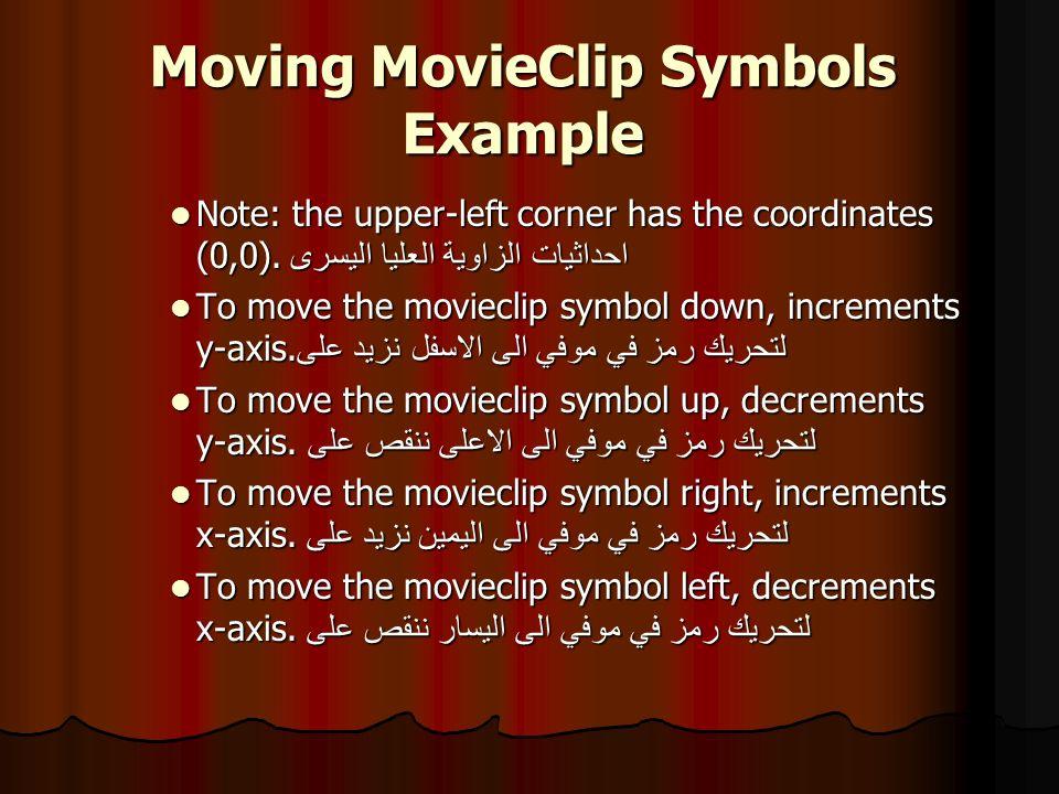 Moving MovieClip Symbols Example 5.