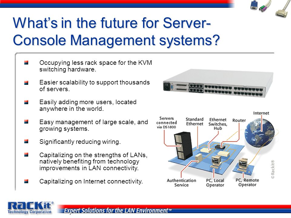 Whats in the future for Server- Console Management systems? Occupying less rack space for the KVM switching hardware. Easier scalability to support th