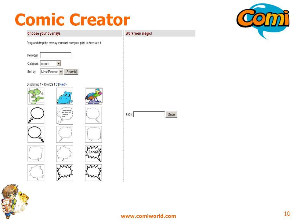 www.comiworld.com 10 Comic Creator