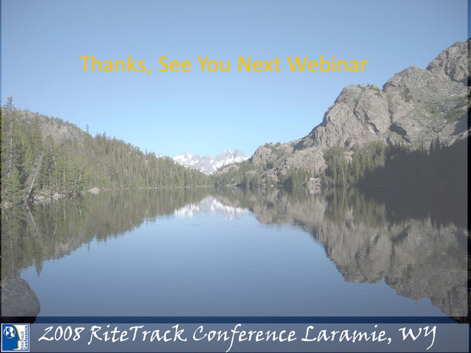 Thanks, See You Next Webinar