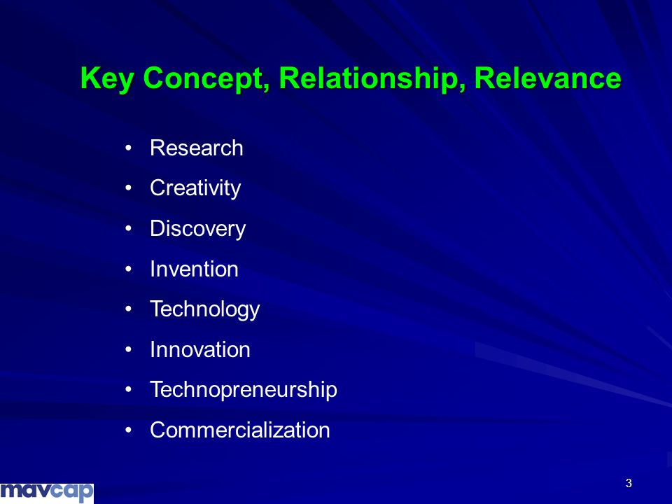 3 Research Creativity Discovery Invention Technology Innovation Technopreneurship Commercialization Key Concept, Relationship, Relevance