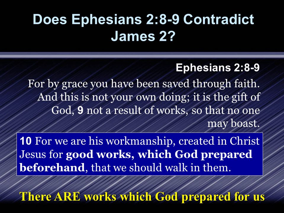 Does Ephesians 2:8-9 Contradict James 2.