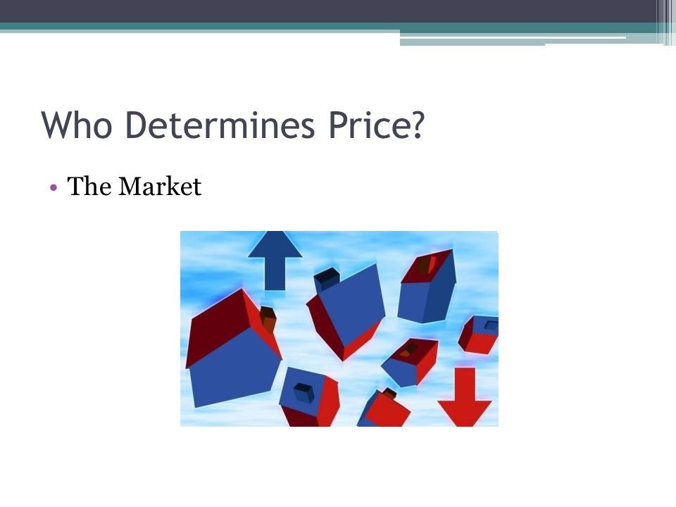 Who Determines Price The Market
