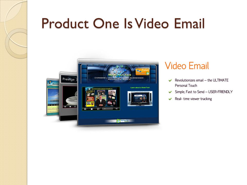 Product One Is Video Email