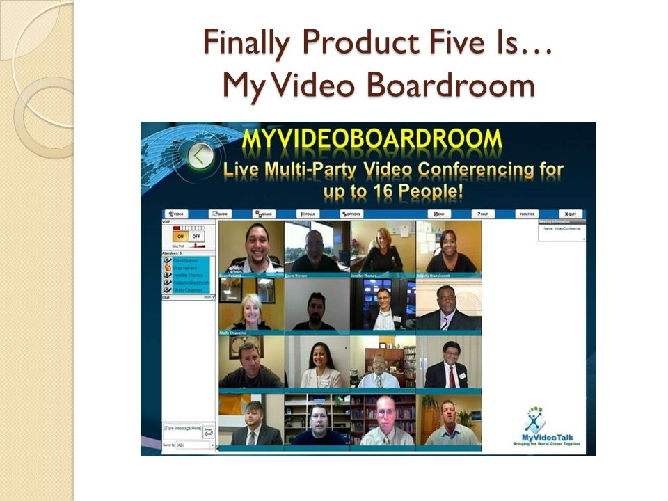 Finally Product Five Is… My Video Boardroom