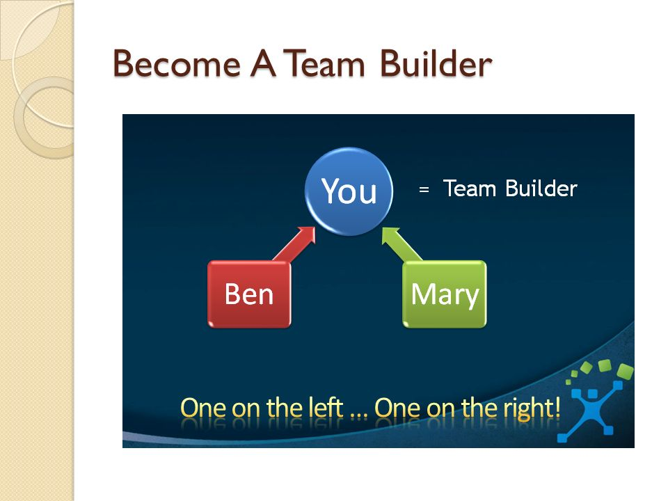 Become A Team Builder