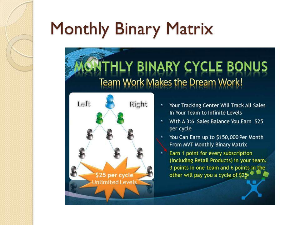 Monthly Binary Matrix