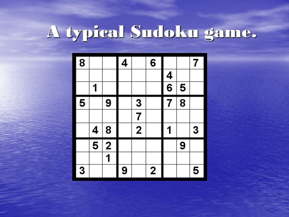 Trivia: Meaning of Sudoku