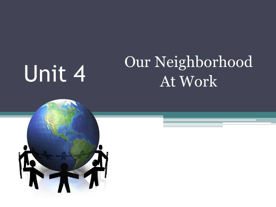 Day 6 Good morning.Today we will read a story about the workers in one neighborhood.