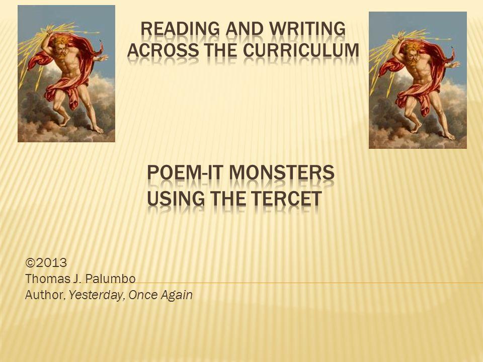 ©2013 Thomas J. Palumbo Author, Yesterday, Once Again