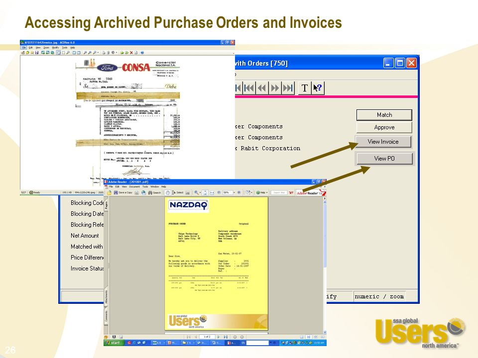 26 Accessing Archived Purchase Orders and Invoices