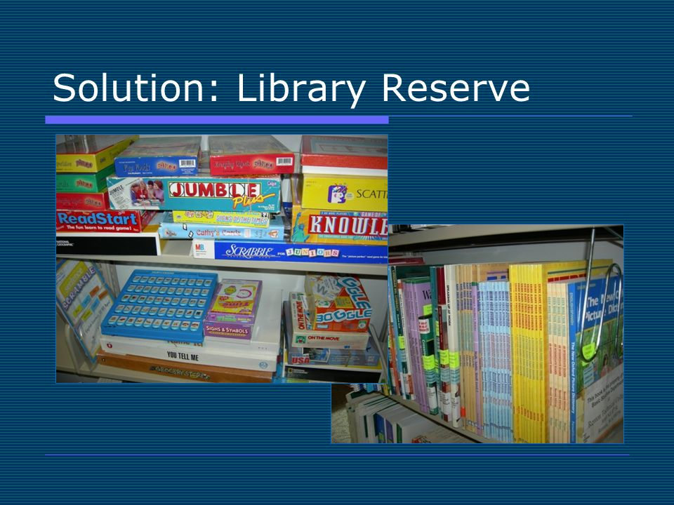 Solution: Library Reserve