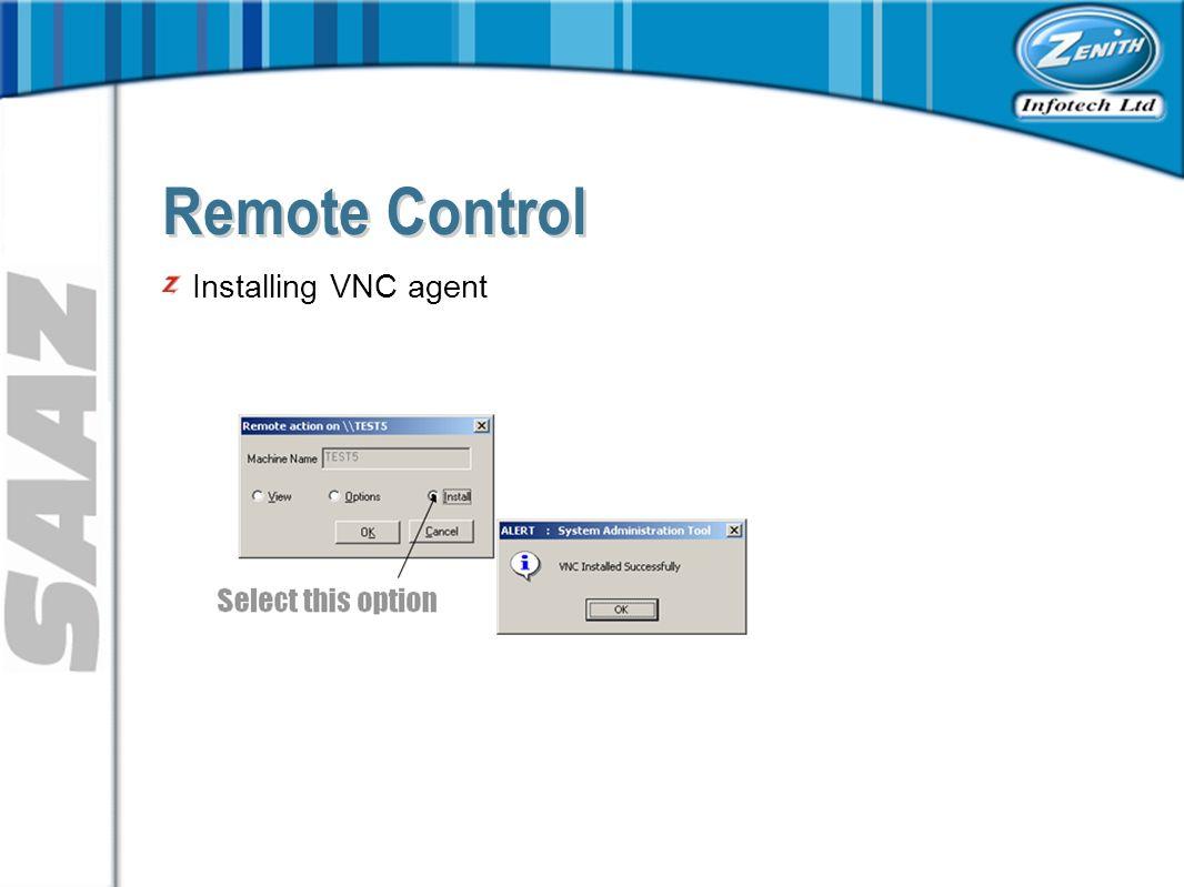 Installing VNC agent