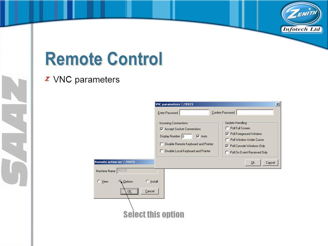 VNC parameters