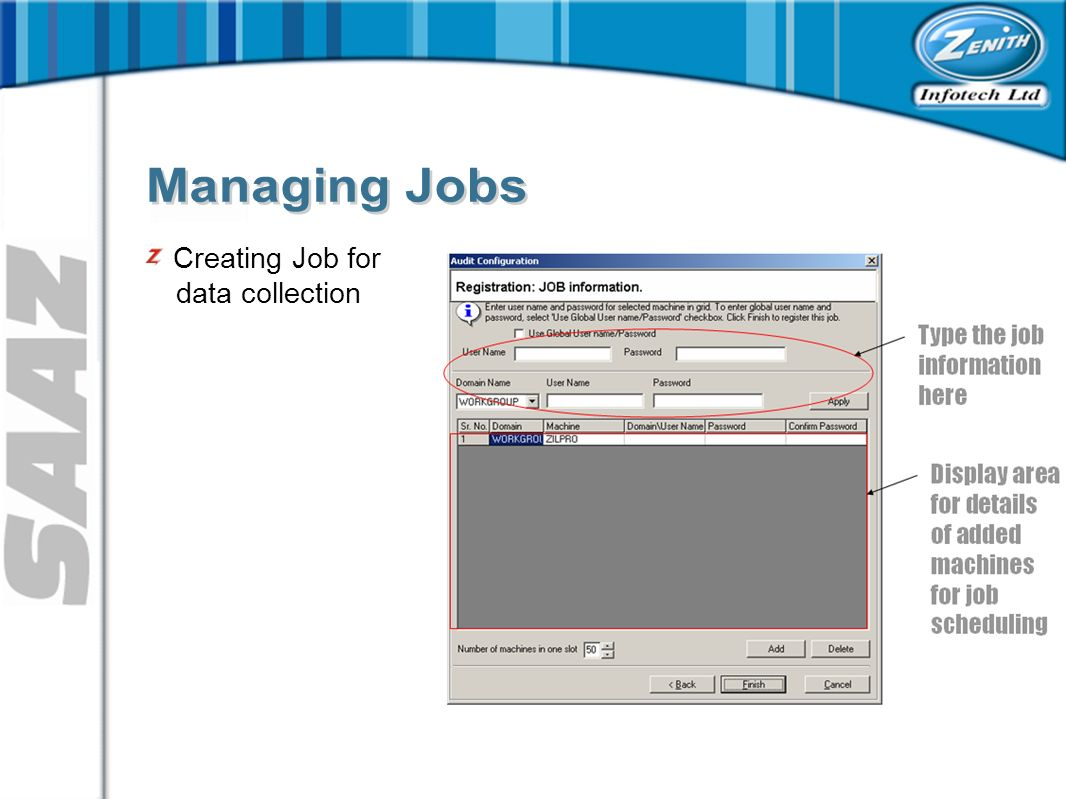 Creating Job for data collection