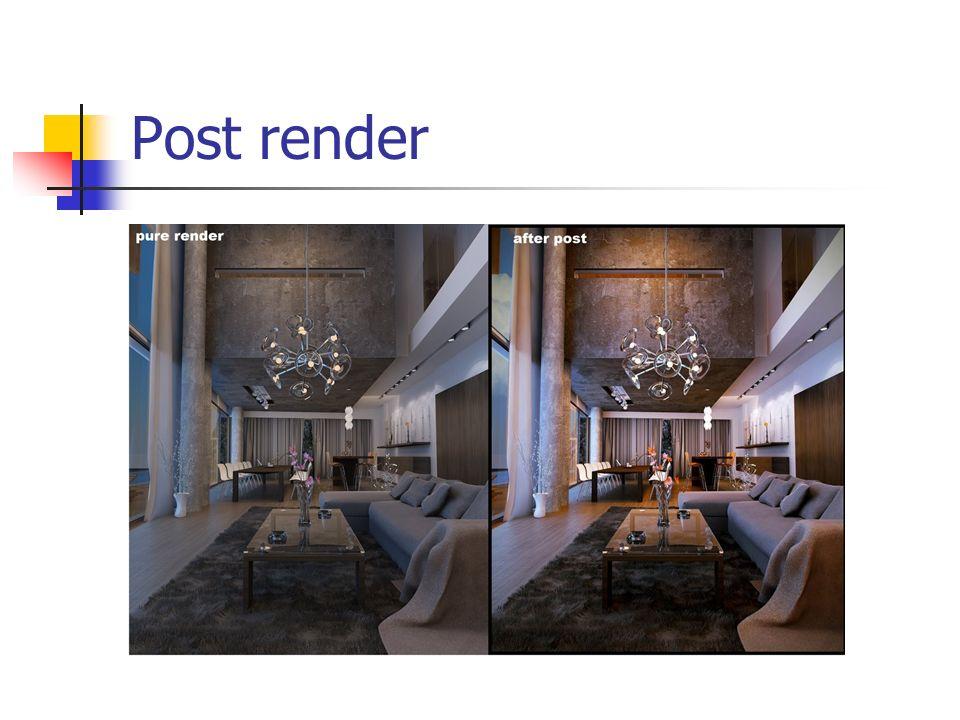 Post render