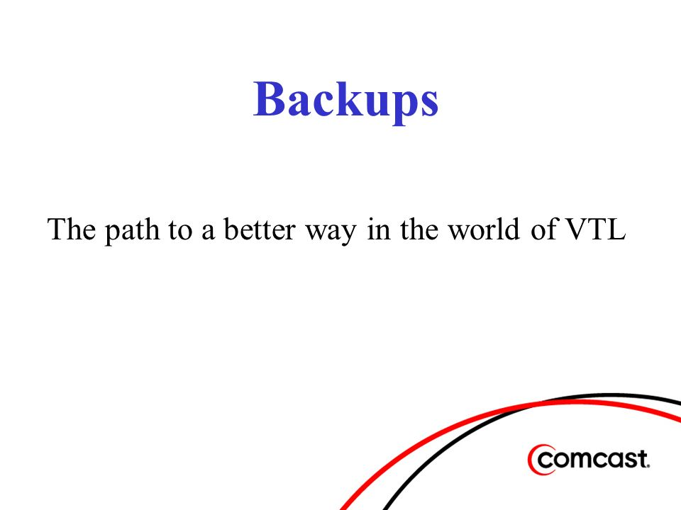 The Future of our Backups Move from a 5 server infrastructure to 3 due to higher processing capabilities of servers.
