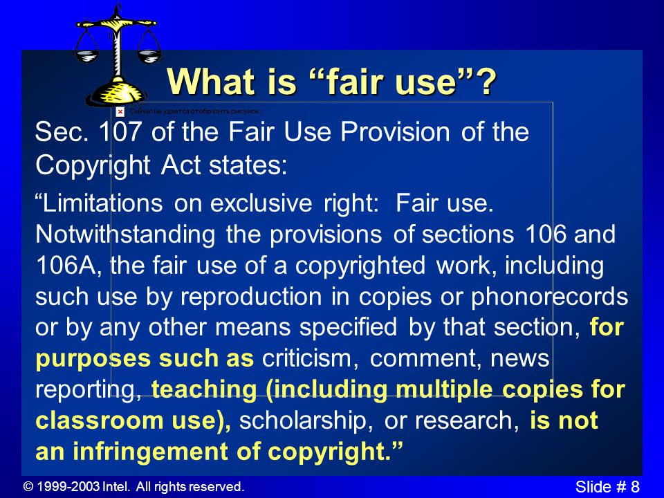 © 1999-2003 Intel. All rights reserved. Slide # 7