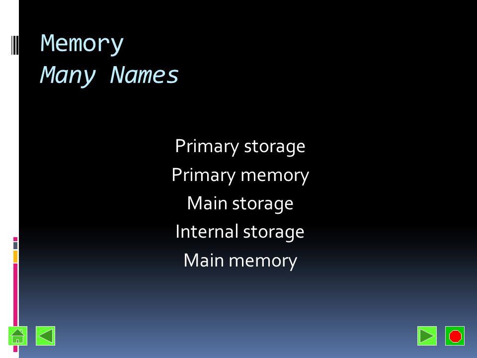 Measuring Storage Capacity KB – kilobyte 1024 bytes Some diskettes Cache memory MB – megabyte Million bytes RAM GB – gigabyte Billion bytes Hard disks