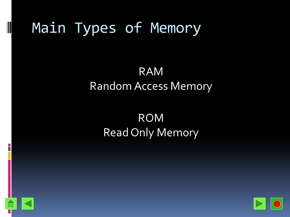 Memory Many Names Primary storage Primary memory Main storage Internal storage Main memory