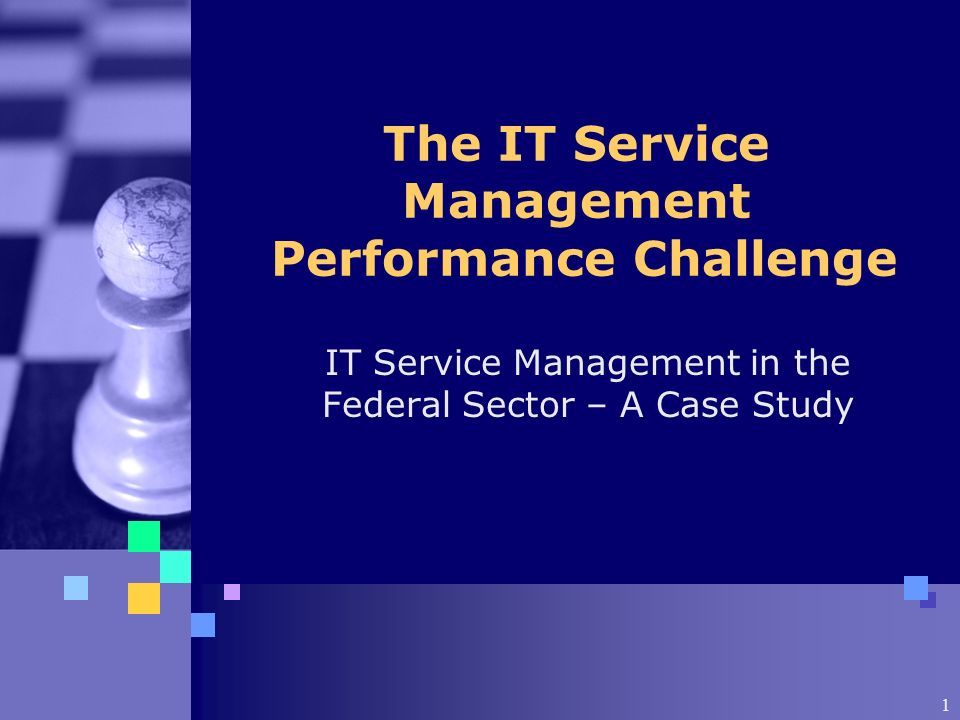 1 The IT Service Management Performance Challenge IT Service Management in the Federal Sector – A Case Study