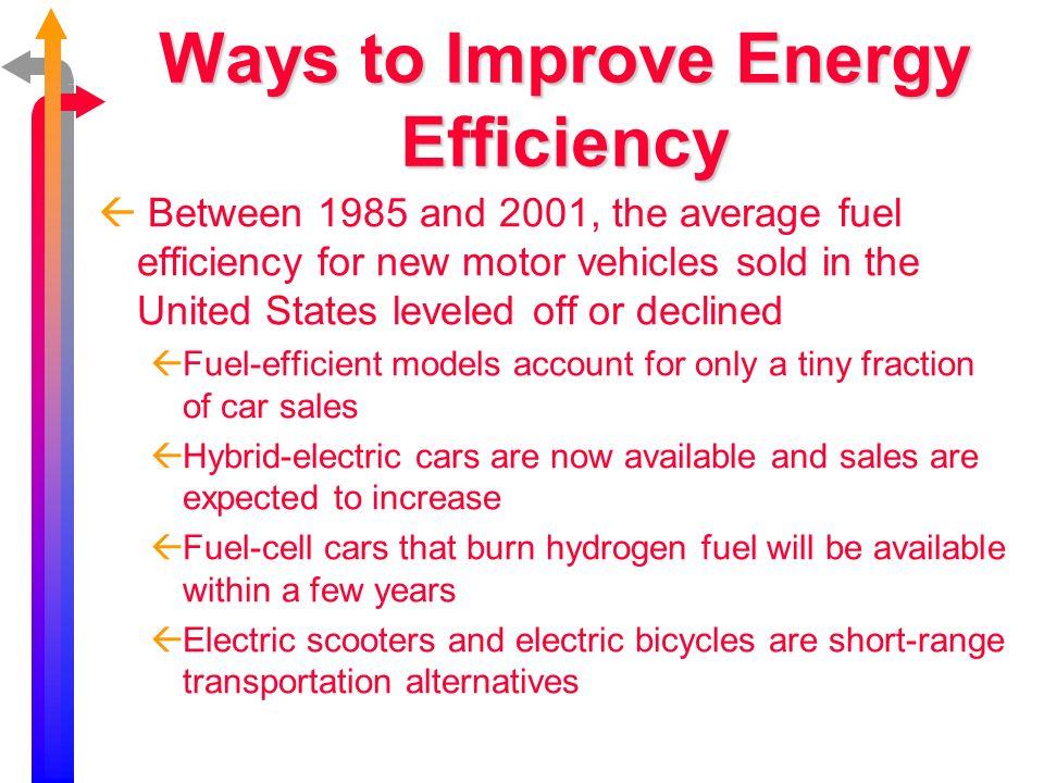 Energy use of various types of transportation www.bio.miami.edu/beck/esc101/Chapter14 &15.ppt