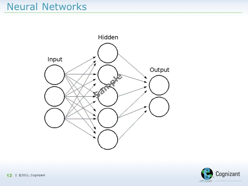 | ©2011, Cognizant Neural Networks 12 Sample