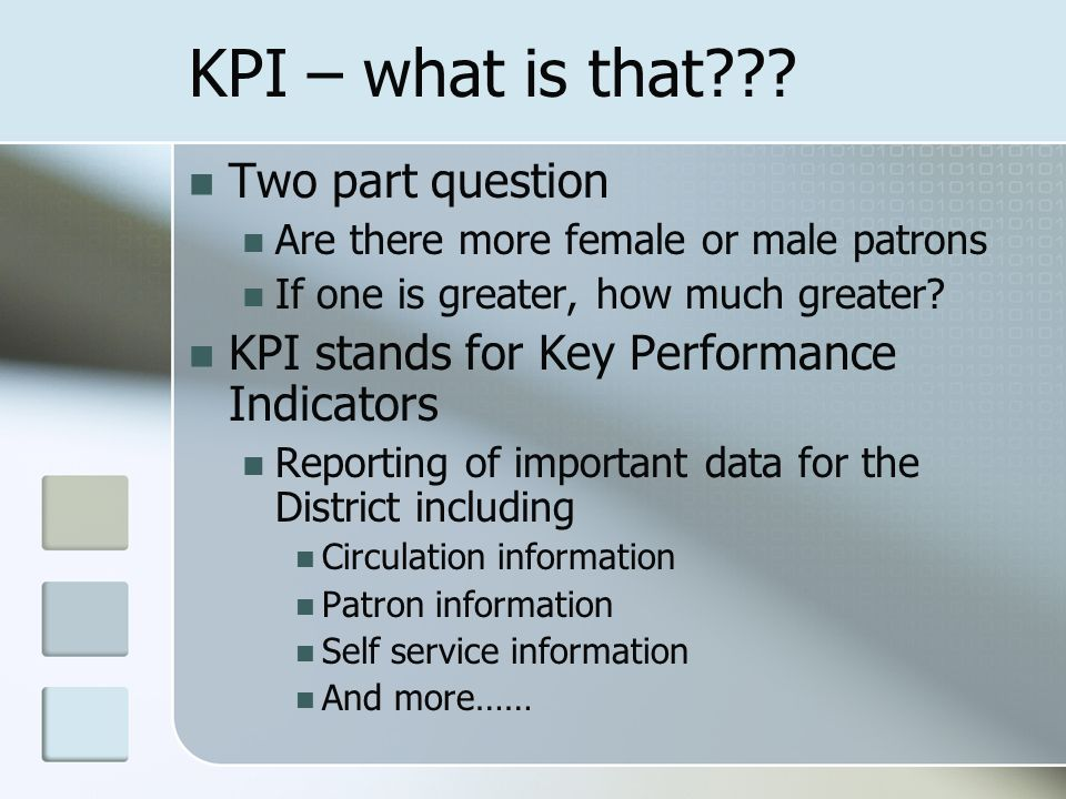 KPI – what is that .