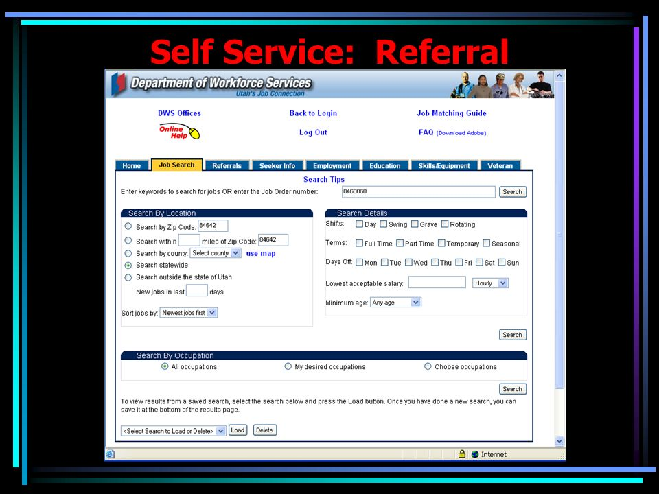 Employment Exchange: Referral …Displaying Requirements and Mismatches (if any) with Seeker Info.