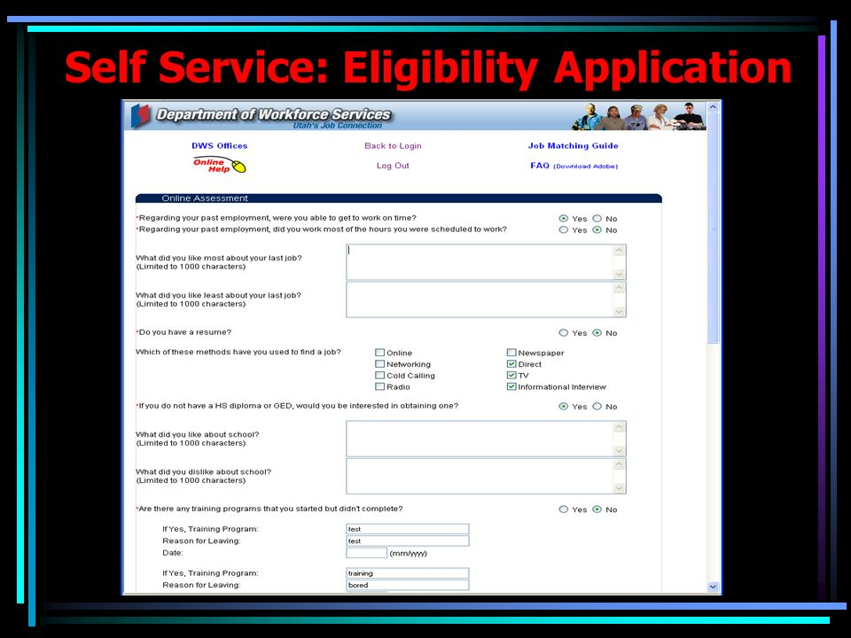 Case Management: Eligibility Application