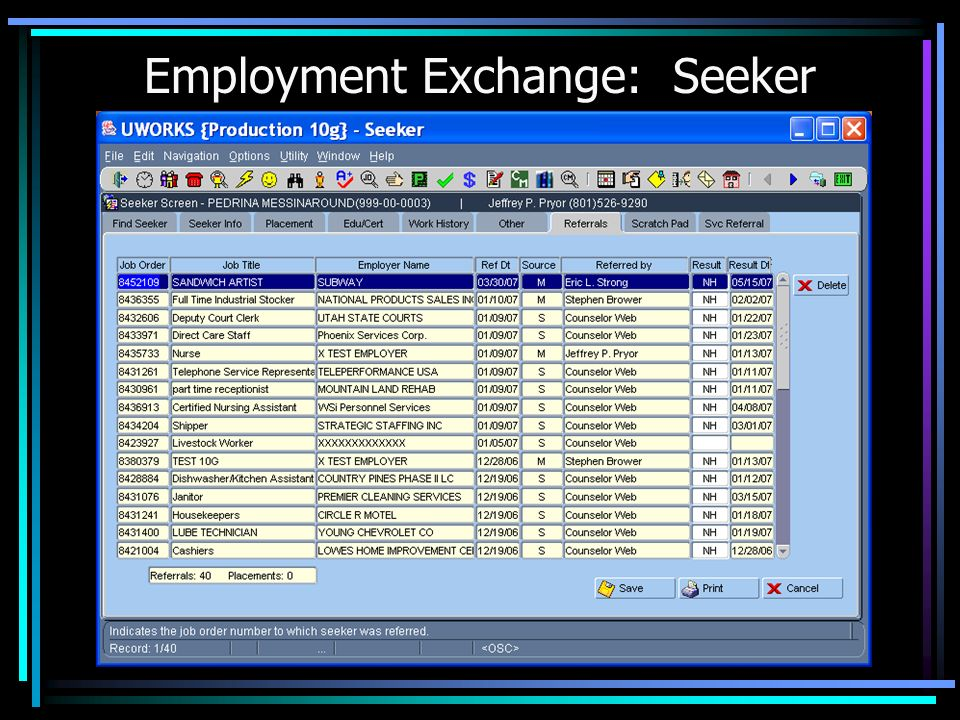 Based on Information Entered, System can Also Generate a Resume for the Seeker.