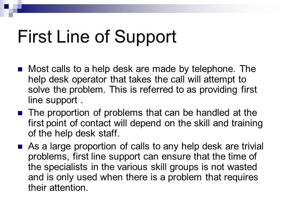 Call Control System The call control system is a procedure for handling customer's requests for help. It involves logging the call and monitoring its