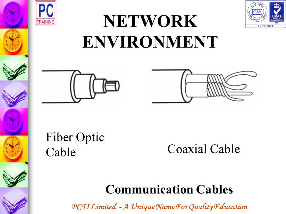 PCTI Limited - A Unique Name For Quality Education NETWORK ENVIRONMENT Fiber Optic Cable Coaxial Cable Communication Cables