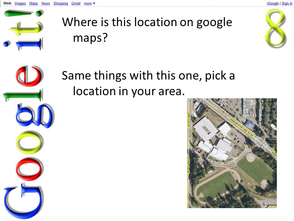 Where is this location on google maps Same things with this one, pick a location in your area.