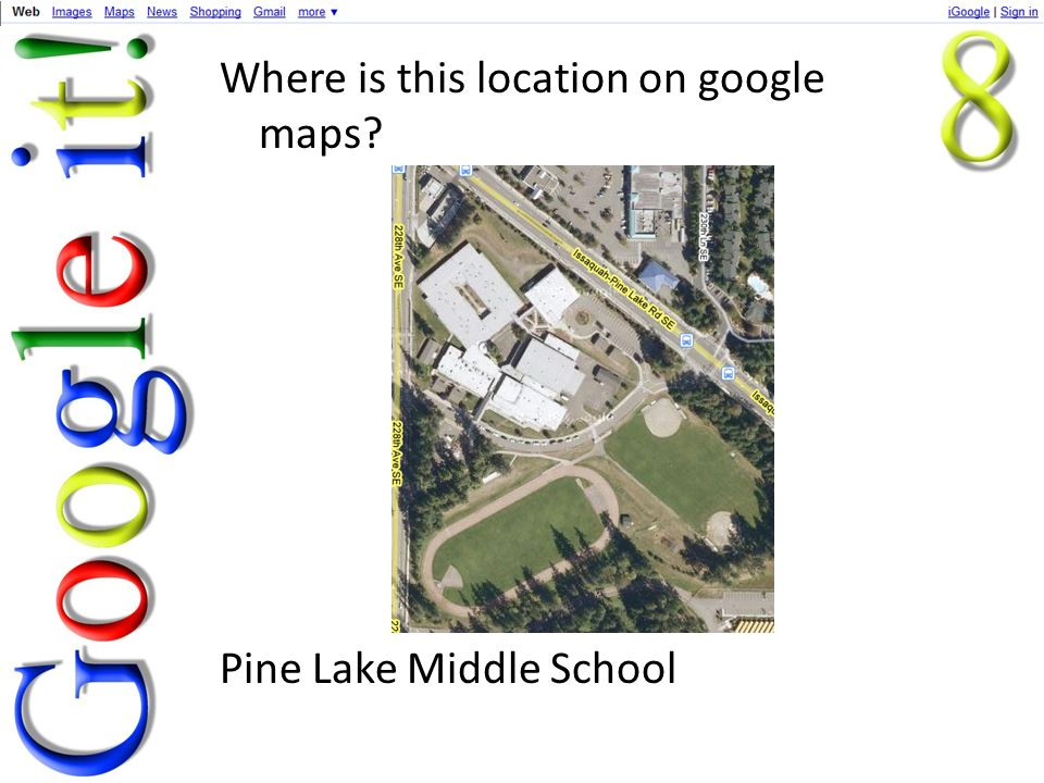 Where is this location on google maps Pine Lake Middle School