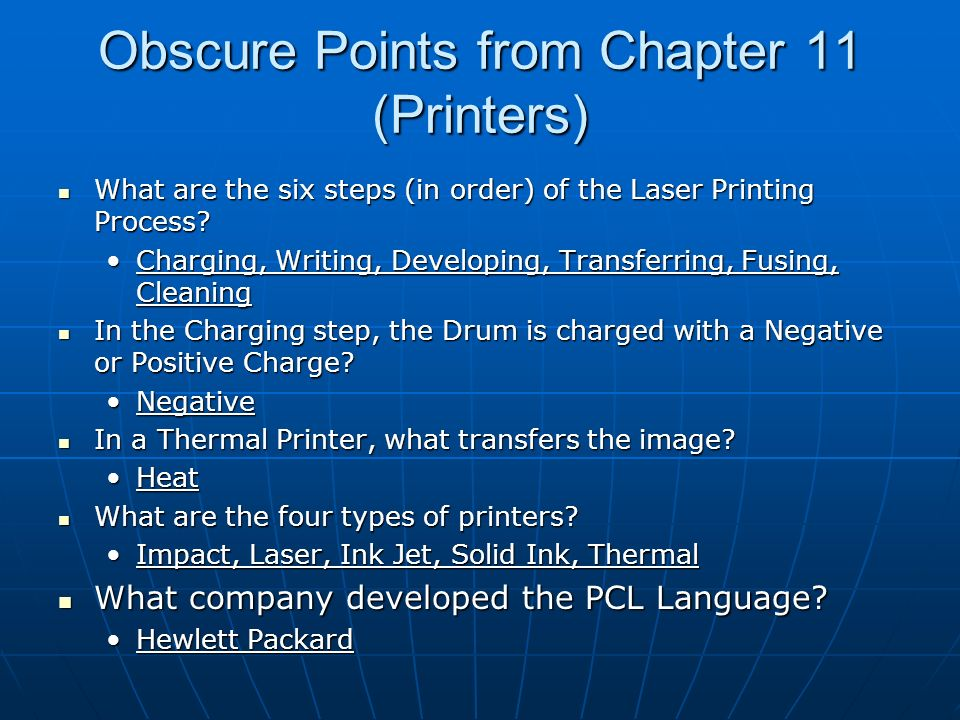 Obscure Points from Chapter 11 (Scanners) What are the two types of Scanners.