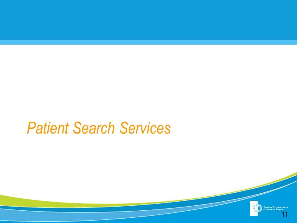 Patient Search Services 11