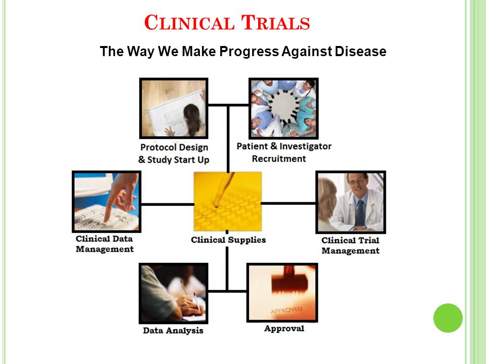 C LINICAL T RIALS The Way We Make Progress Against Disease