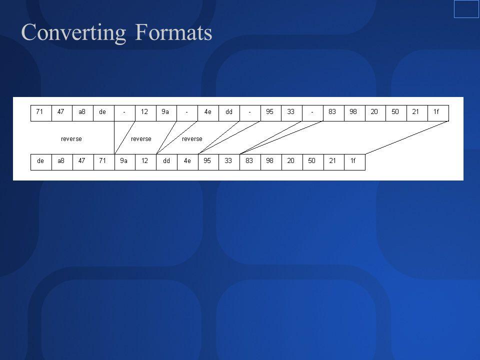 Converting Formats